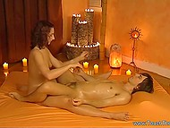 Unstable lovely works at prestigious salon and practices tantric massage with her client 3