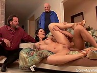 Adult doll got fucked in front of husband by strange man to diversify their sexual life somehow 9