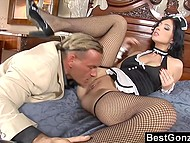 Wife hired maid but she didn't ever thought that husband would get his eye on and cock inside that girl 4