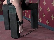 Maniac is torturing his victim and bringing her to multiple orgasms with help of vibrator 10