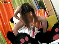 Plushy panda needed somebody's pussy and brunette seductress dealt with his instrument 6