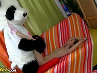 Plushy panda needed somebody's pussy and brunette seductress dealt with his instrument 9