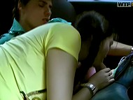 Youngster nailed captivating Russian of Asian appearance in the backseat during the ride 6
