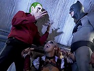 Batman and Joker declared an armistice and fucked asshole of local whore in the underground tunnel 11