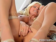 Tigress with hefty hooters gets wet when somebody watches her masturbating love tunnel 11