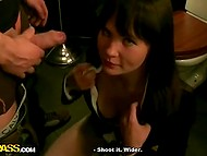 Pickup masters took Russian girl of easy virtue to cafe and fucked her for money in toilet 10