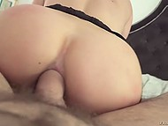 Alluring brunette with delicious body has awesome anal sex in the POV scene 7