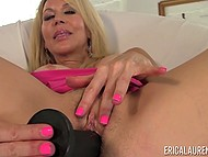Mature minx Erica Lauren likes to get a lot of attention so she scrubs crack with dildo 5