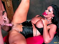 BDSM games of brunette and her admirer who love to bring a bit of extreme in their sex 5