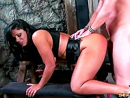 BDSM games of brunette and her admirer who love to bring a bit of extreme in their sex 8