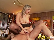 Buddy hit on provocative dame Daria Glover and she let him fuck her on bar counter 7
