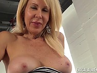 Blonde-haired temptress Erica Lauren energetically masturbated shaggy crack on camera 7