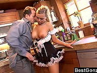 Buddy's day began not with a cup of coffee but with sexual act with provocative housemaid 4