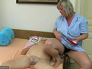 Nanny is already old and can't resist masters' molesting so she is fucked hard after work day 3
