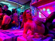 Lecherous girls came to the club to booze up, dance, and be fucked by strippers 6