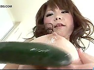 Minx rides dildo with hairy hole on kitchen countertop instead of cooking dinner 6