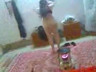 POV homemade video featuring full-bosomed Arab woman having sex with husband 11
