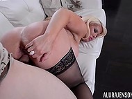 While US military personnel are stationed around the world, stacked Alura Jenson is having sex with bristly soldier 4