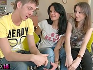 Two young Russian girls were bored and made up their mind to call gigolo to have fun 5