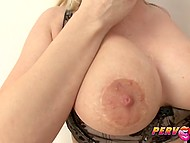 Glass filled with fresh seminal fluid was for blonde cock lover more delicious than Martini 10
