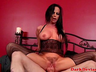 Dude had touched busty diva's body with electric toy before strong cock invaded trimmed vagina