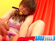 Man tied up and gagged Japanese girl before taking up to kneading her fluffy with vibrator 5