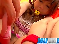 Man tied up and gagged Japanese girl before taking up to kneading her fluffy with vibrator 7