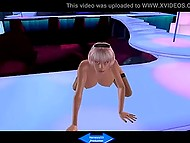 Animated stripper with huge boobers squirts and gives a head and then sperm covers her face 4