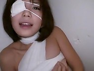 Bandaged teenage is already on the mend and thanks doctor with pleasant blowjob 4
