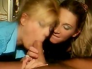 Romanian sluts Ginger Devil and Jasmine Rouge share gentleman's fuckstick in hot threesome 8