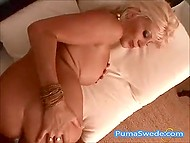 Astonishing Swedish Puma Swede preferred fucking and portion of sperm to swimming in the pool 9
