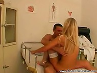 Therapy definitely was useful for patient after he pounded hot to trot nurse in cabinet 4