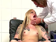 Tattooed German came to hospital for examination and didn't expect to go anal with two doctors 4