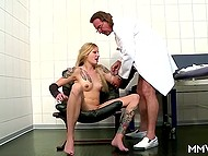Tattooed German came to hospital for examination and didn't expect to go anal with two doctors 6