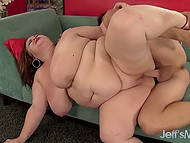 BBW lover had put on T-shirt with photo of Holly Jayde before his dick visited large crave 9