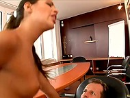 Raunchy boss desired to bang stunning secretary and he quickly finished the business meeting 5