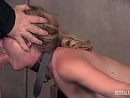 Стройную малышку хорошенько связали и жёстко отодрали, прежде чем довести до струйного оргазма 5