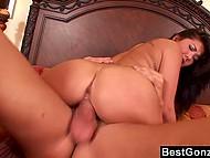 Good-looking Japanese London Keyes with pierced nipples takes pleasure in having sex with seasoned fucker 5