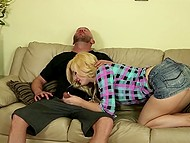 White-headed Portuguese Charlyse Bella didn't want to have unnecessary talk that's why pounced on the dick 4