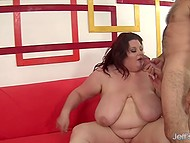Grey-haired tempter found out that BBW likes to suck dick and started to act immediately 6