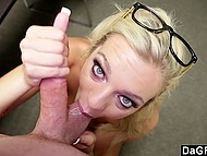 Guy came to the office just in time and had great sex with light-haired secretary 4