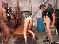 Juelz Ventura easily swallowed big cocks and brought each black dude to ejaculation 9