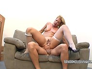 Muscular Apollo and fair-haired wife are married for many years and his cock still causes her to squirt 3