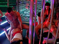 There are a lot of frolicsome girls who want to hang out with muscled strippers on the dance floor 10