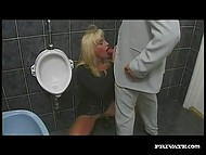 Inspector of the French police observed that damsel had no panties and owned her in the toilet 4