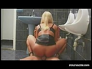 Inspector of the French police observed that damsel had no panties and owned her in the toilet 7