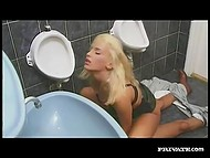 Inspector of the French police observed that damsel had no panties and owned her in the toilet 8