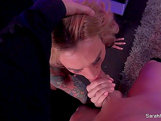 Despite the rules, outstanding stripper Sarah Jessie gave blowjob and let visitor fuck her