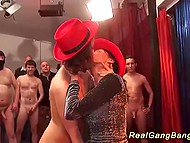 Two trollops from Germany deserved applause after pleasuring group of horny men 4