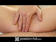 Paramour fondled sweetie Lola Hunter's clitoris before entering her narrow sissy 5